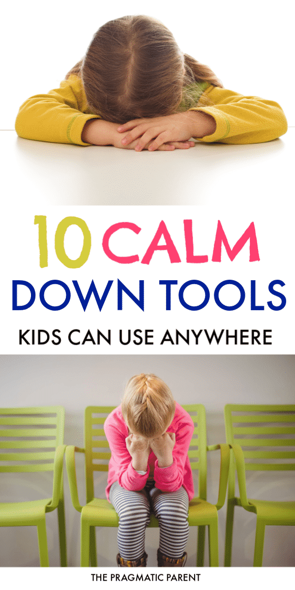 Calm down tools kids can use anywhere when they feel upset or big emotions take over. Teach kids how to manage their emotions with a set of calm down tools. Calm down techniques for kids that work no matter if you're at home, school, the library or on an airplane! #calmdowntools #calmdowntoolsforkids #calmdowntechniques #helpkidswithbigemotions #bigemotions #toddlertantrums #helpkidscalmdown