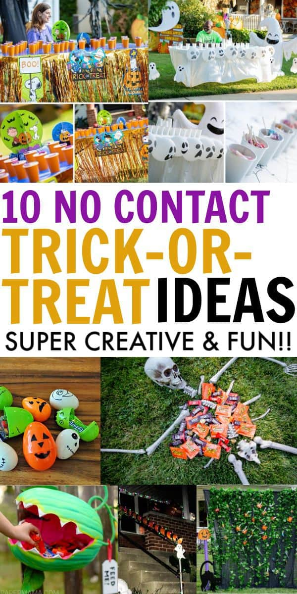 10 no contact trick or treating ideas for 2020. 10 creative & fun social distancing safe ideas for trick-or-treating this Halloween.