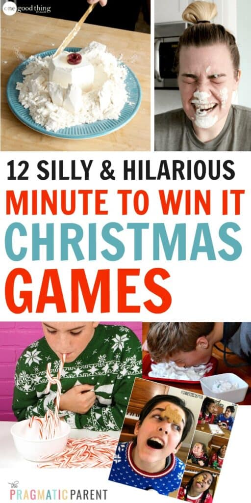 12 Best Minute to Win it Christmas Games for Kids & Adults. Hilarious games with minimal supplies, but silliness and laughter guaranteed!