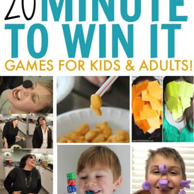 20 of the best hilariously fun minute to win it games for kids & adults. Great fun for birthday parties, family fun night or kids at school.