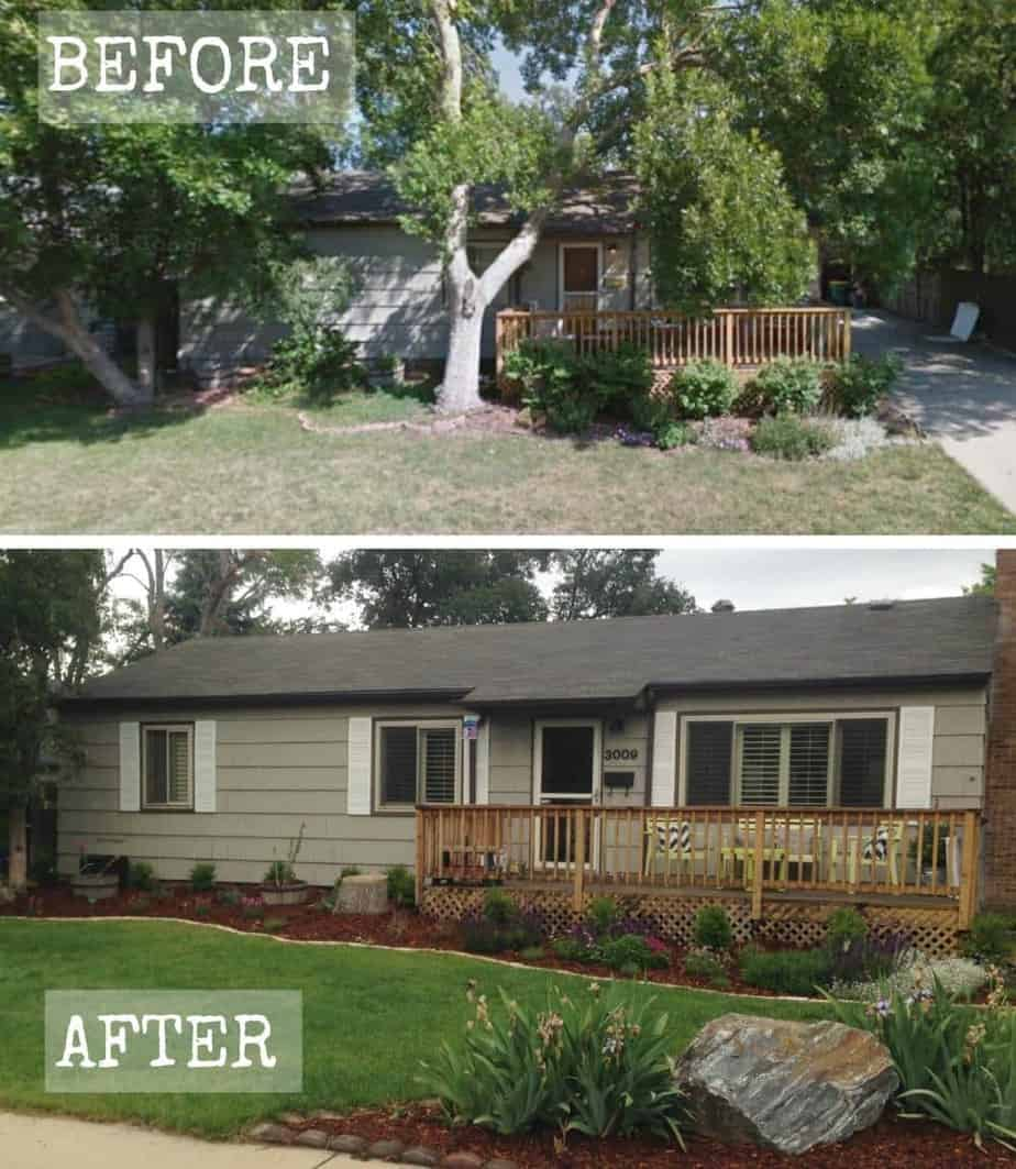 curb appeal transformation before after