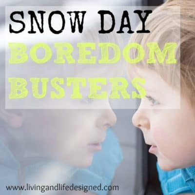 Snow Day Boredom Busters - Yes, Please! Great ideas to keep the kids busy when we're stuck inside all day.