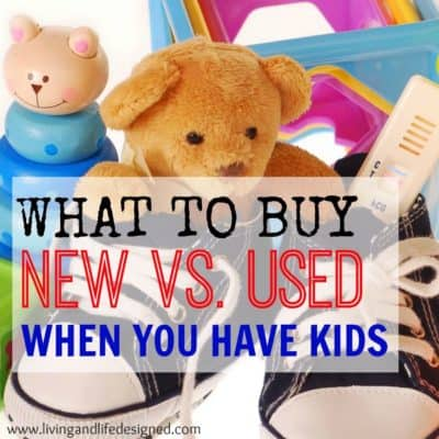 Great list of things to buy new or used. Its so easy to overspend on your kids, this is a great resource of ideas on where to save.