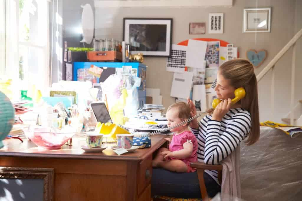 Work from Home as a Stay-at-Home Mom. If you Have to Work In Front of Your Kids, Set Them up To Play Quietly On Their Own