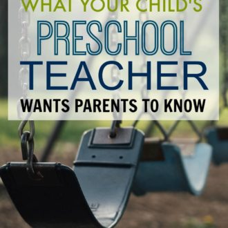 What Your Child's Preschool Teacher Really Wants You to Know
