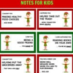 40 Elf on the Shelf Printable Notes