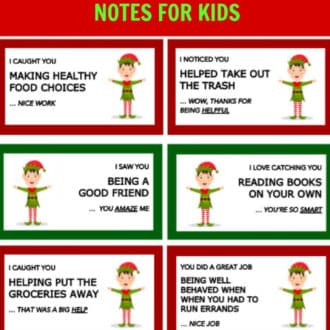 "Elf on the Shelf Printable ""I Caught You Being Good"" Notecards"