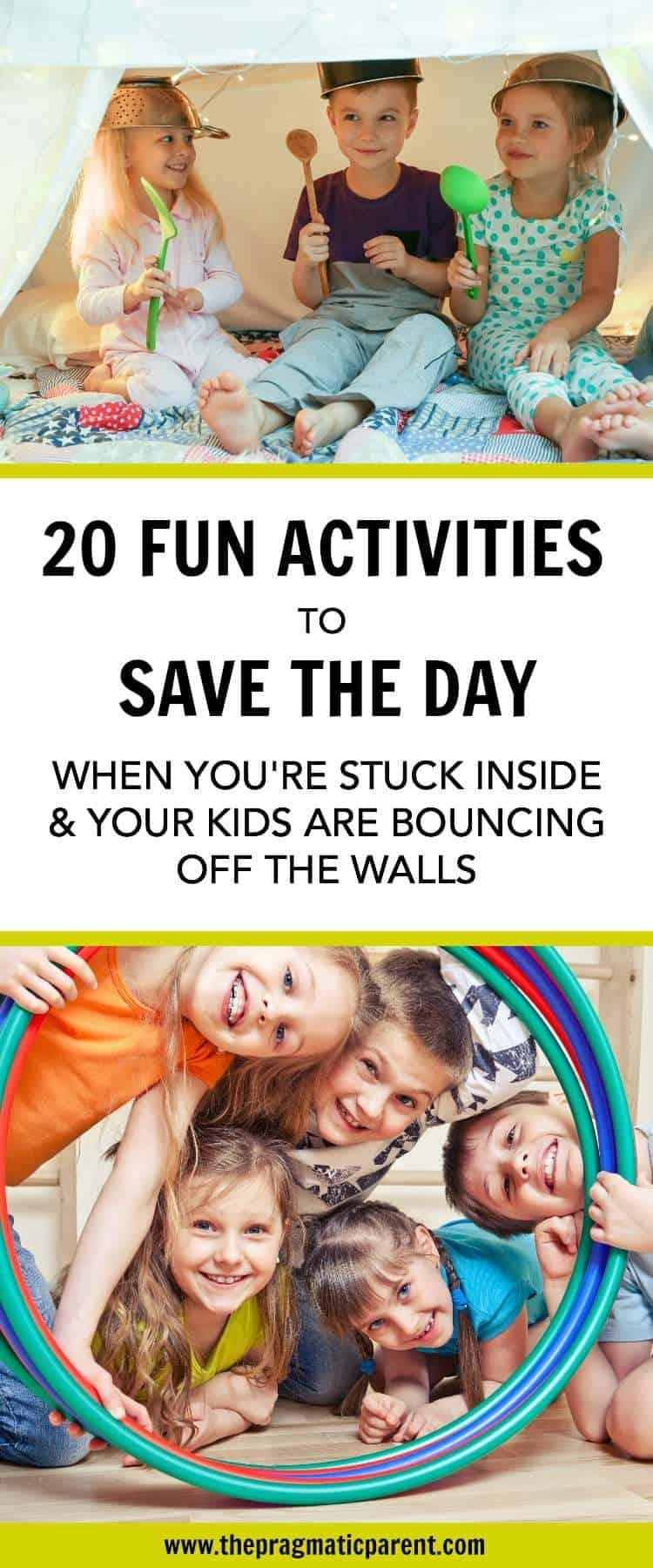 The Best Inside Activities to Entertain Kids When You're Stuck Indoors