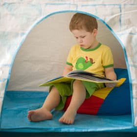 Help your child to calm down & manage their emotions with a dedicated cool off spot.