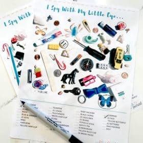 """""""I Spy"""" for Kids Printable Game Sheets"""