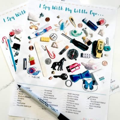 I Spy for Kids Printable Game Sheets for When You're on the Go, Waiting, Trying to Make Dinner or Your Kids are Playing Independently. These two printables are great to tuck in your purse or pull out when you're waiting at the doctor's office.