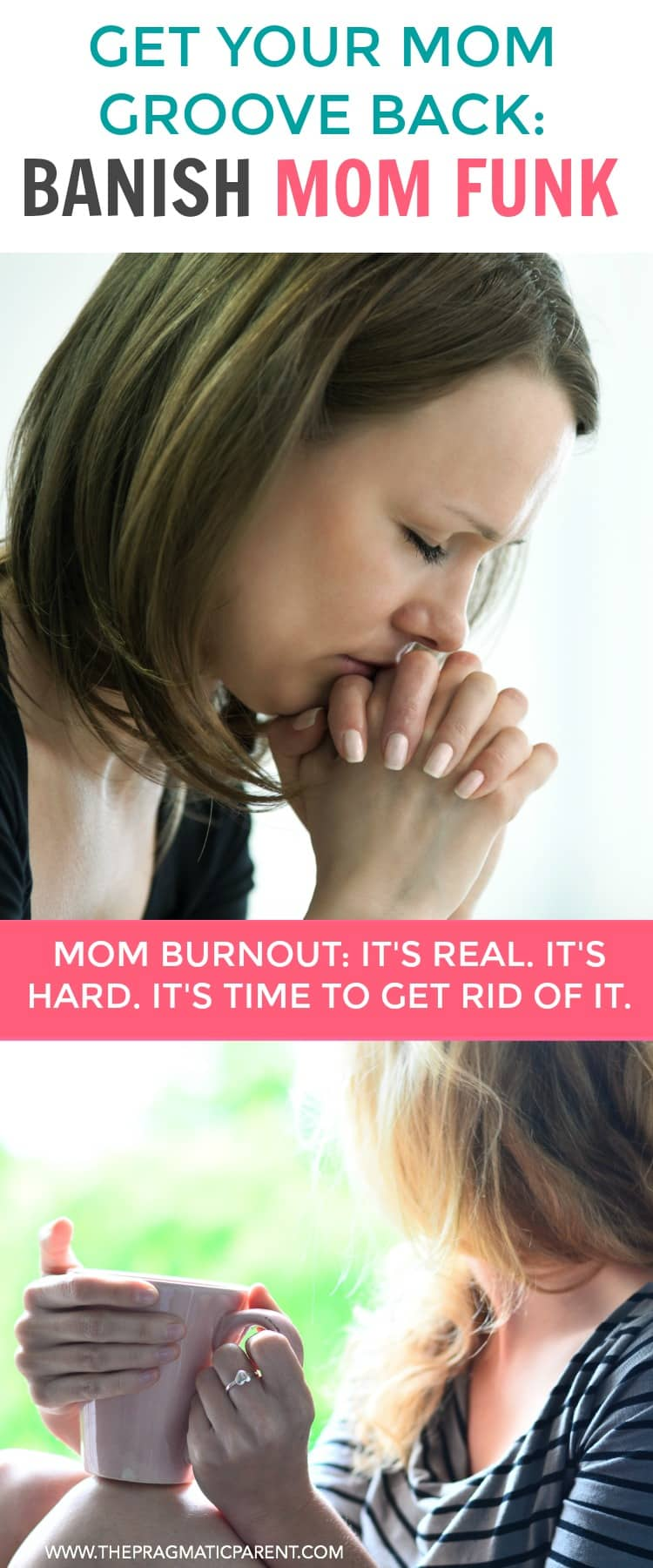 If youdon'tenjoy motherhood as much as you once did, are irritable, less patient, yell or not engaged, it could be Mom Burnout. How to kick a Mom funk. #momburnout #momfunk #unhappymom #joyinmotherhood #beahappymom