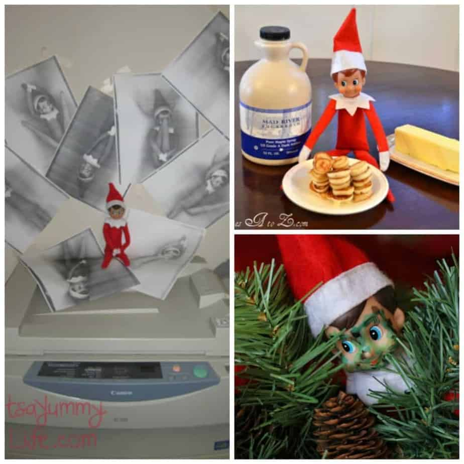 Easy Elf Ideas and 30 Easy Elf on the Shelf Ideas you can pull together in 5 minutes or less. Need a last minute easy elf on the shelf idea because you forgot? These easy elf ideas require minimal supplies, and most of the easy elf on the shelf ideas, you already have everything in your home. 30 Easy Elf Ideas when you don't have time.