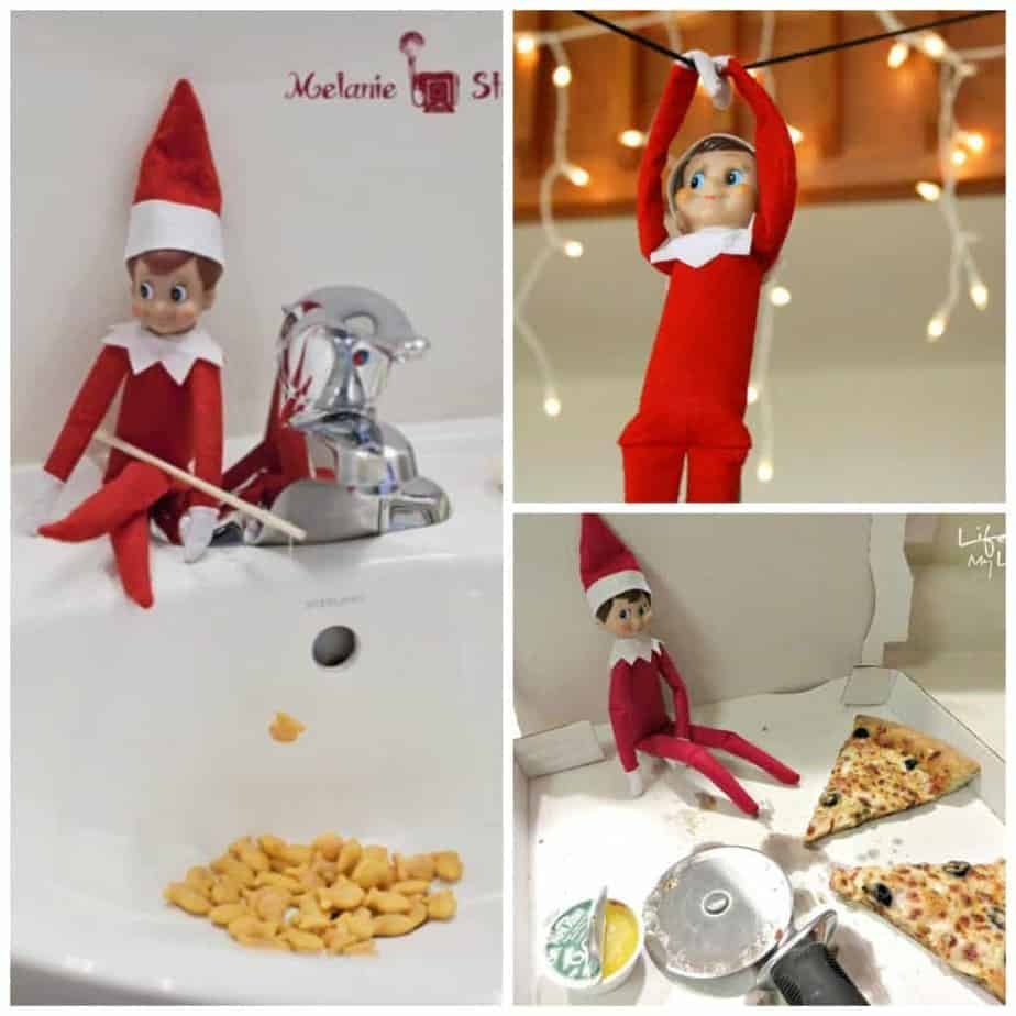 easy elf ideas: easy elf on the shelf ideas you can do in minutes