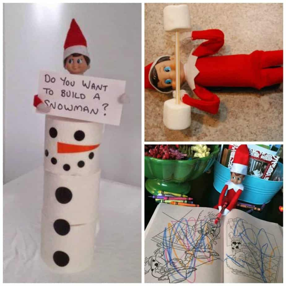 30 Easy Elf On The Shelf Ideas To Pull Together In 5 Minutes
