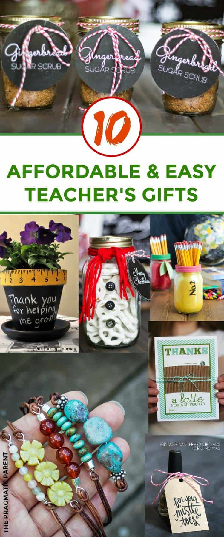Affordable Teacher's Gifts for Christmas. Inexpensive Teacher's Gifts You Can Pull Together Quickly and Easily. Unique Teacher's Gift Ideas. Teacher's Gift Ideas for Christmas. #teachersgifts #teacherschristmasgifts #affordableteachersgifts