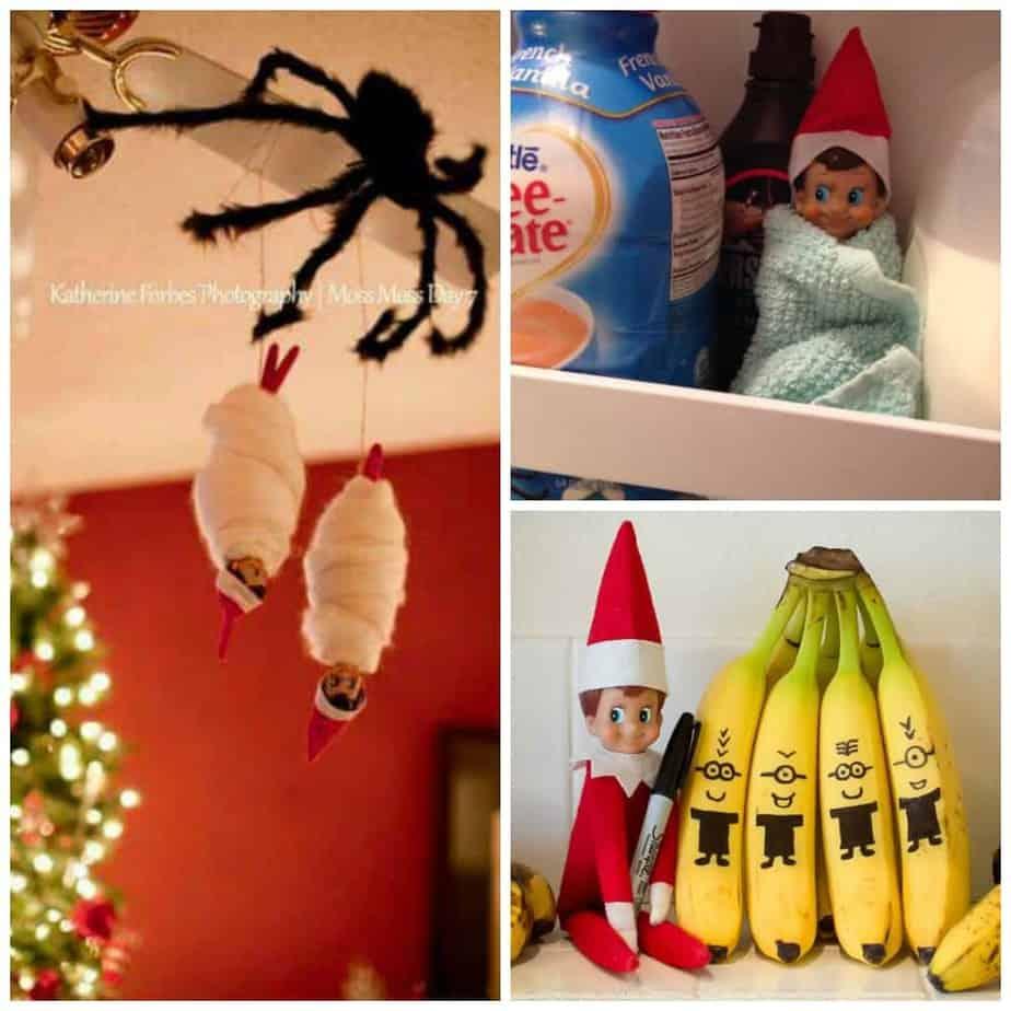 elf ideas and easy elf on the shelf ideas