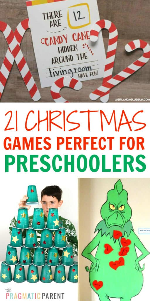 Best Christmas Games for Preschoolers in the classroom, or at home with family during the holidays. Simple & fun Christmas Games perfect for preschoolers.