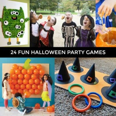 24 fun halloween party games for kids, and adults too! Planning a Halloween party, be sure to include some of these spooktacular halloween party games.