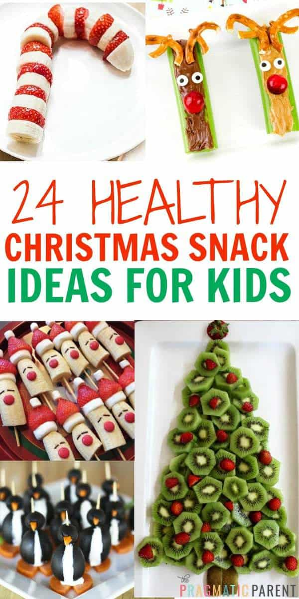 10 Healthy Christmas Snacks perfect for a child's school party, or any holiday occasion. No sugar in these festive & healthy Christmas snacks.