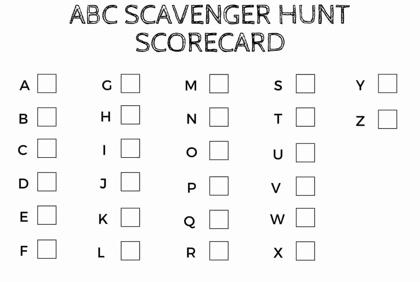 Is your preschooler ready to master their ABCs? The ABC letter recognition scavenger hunt makes letter association fun - the best way for littles to learn.