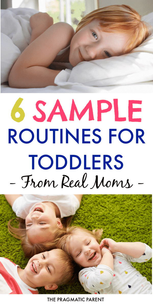Are you looking to create a great schedule for your toddler? 6 Awesome Toddler Routines. 6 sample toddler schedules from 6 real Stay at Homes Moms with toddlers 18 months to 4 years old, who rock their daily routine.