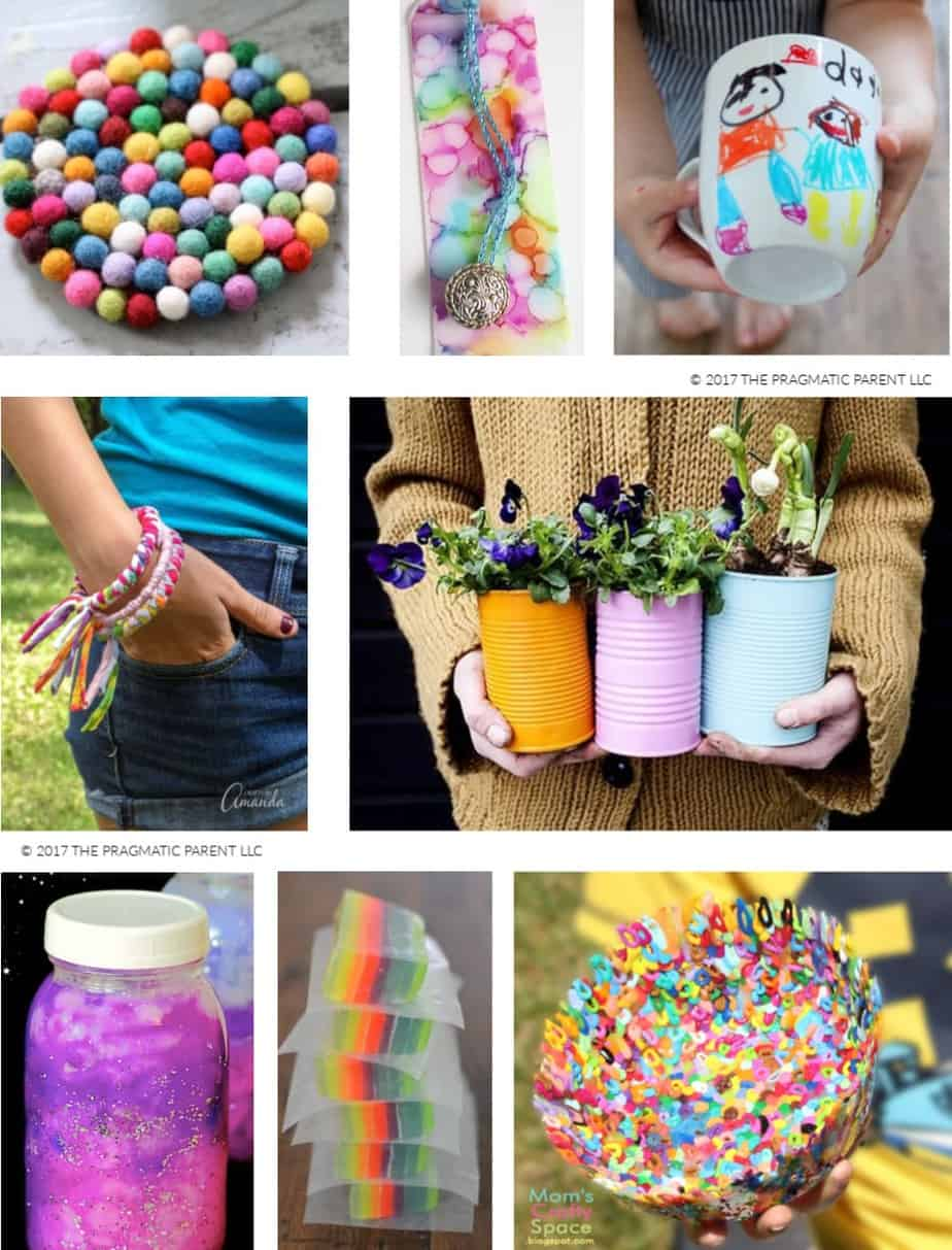 8 Arts Craft Projects Easy Things For Kids To Make And