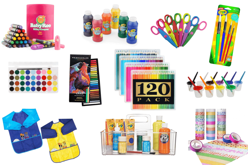 best gifts for kids who love arts and crafts: art supplies for kids