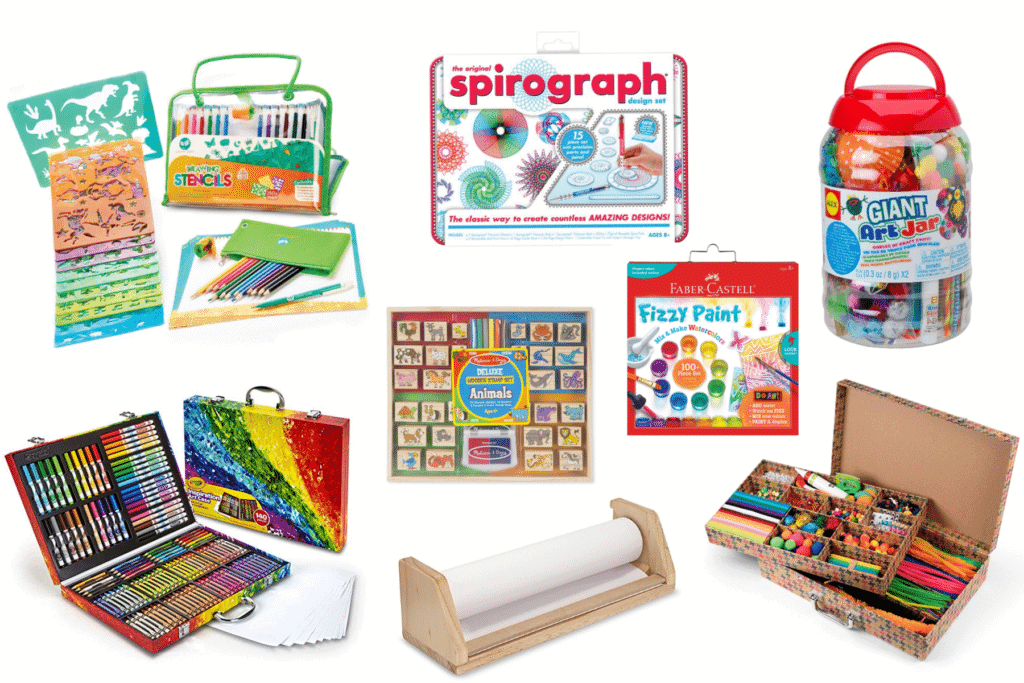 epic guide of art and craft supplies for kids to fill all their creative senses. These are the perfect gifts for kids who love arts and crafts.