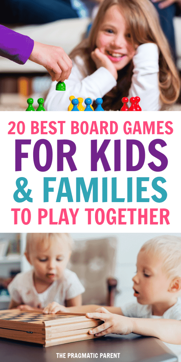 The Best Board Games for kids and families to play together. Your guide to the best board games for kids to play together, including games for as young as 2 years old and fun for the entire family to play together. Best games for families to play together. #bestgamesforkids #bestboardgamesforkids #bestboardgamesforfamilies #bestboardgamesforkidstoplay #familyfunideas #indooractivitiesforkids #funindooractivities