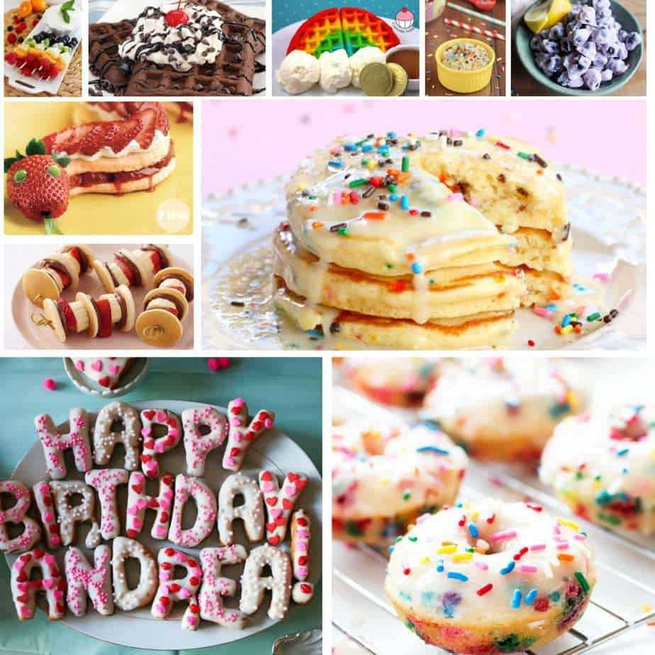 A fun way to kick off your child's birthday is to start the day with a festive birthday breakfast. 15 Birthday Breakfast Ideas your kids will go crazy for.