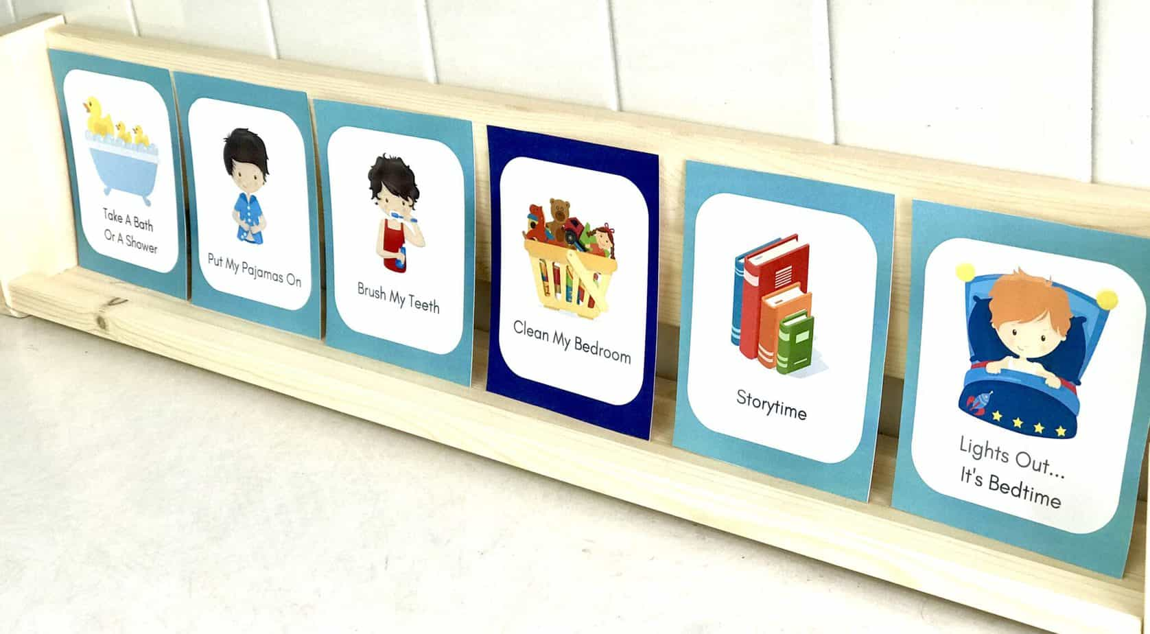daily routine cards help kids keep a daily schedule and follow a predictable routine that makes them feel safe
