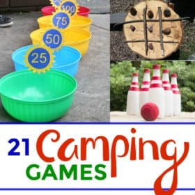 Summer is here, the kids are out of school, days are longer and the weather is perfect for going camping with kids.  A family camping trip is the perfect way to spend time together, away from screens and the hustle and bustle of everyday life. 21 fun camping games your kids will enjoy on your next camping trip.