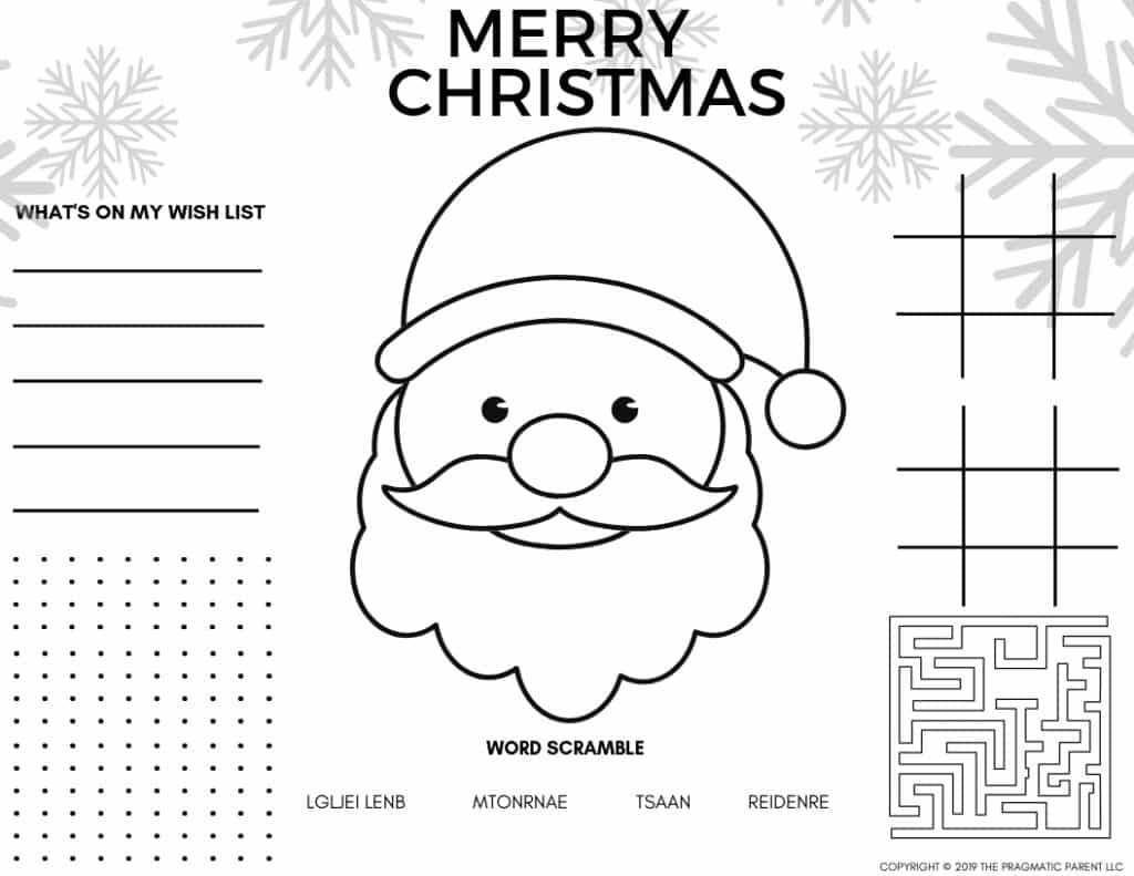 Christmas Coloring Pages - Easy Peasy and Fun | 791x1024