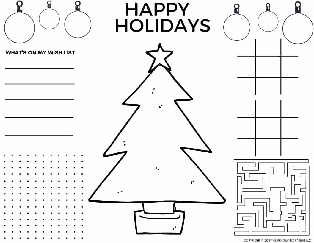 It is a photo of Soft Christmas Activity Pages Free Printable