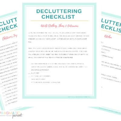 Free Decluttering Checklist and 42 Day Clutter Free Calendar