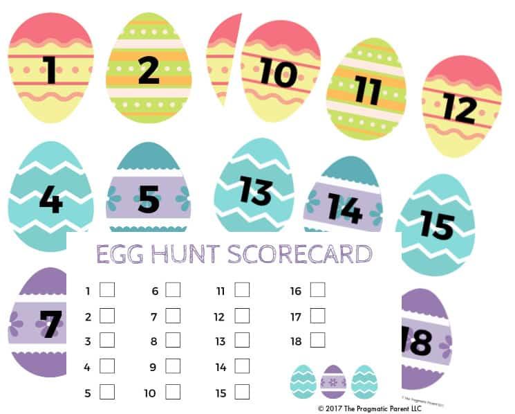 Fun Easter Egg Indoor Hunt Idea Numbered Egg Scavenger Hunt