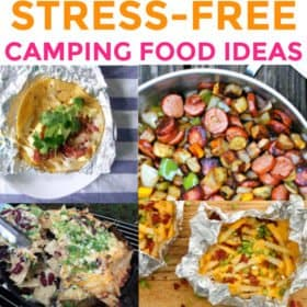 It's camping season, which means it's time to arm you with a ton of genius camping tips including fun camping games and campire meals other than the same 'ol hot dogs and hamburgers (anyone else tired of the old standbys?) Here are 30 easy recipes to make and easy to pack camping food ideas your family will love.