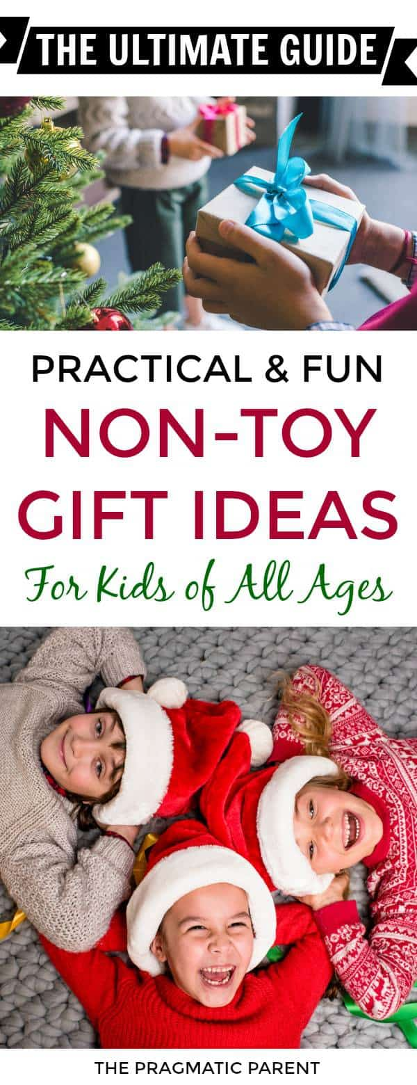 Ultimate collection of gift guides of over 200 non-junk gifts for kids that are practical, well-made, unique, fun and inspire creativity and imagination. #giftsforkids #giftideasforkids #nontoygiftsforkids #nontoygiftsforchristmas #christmastraditions #bestgiftsforkids #bestgiftideasforkids