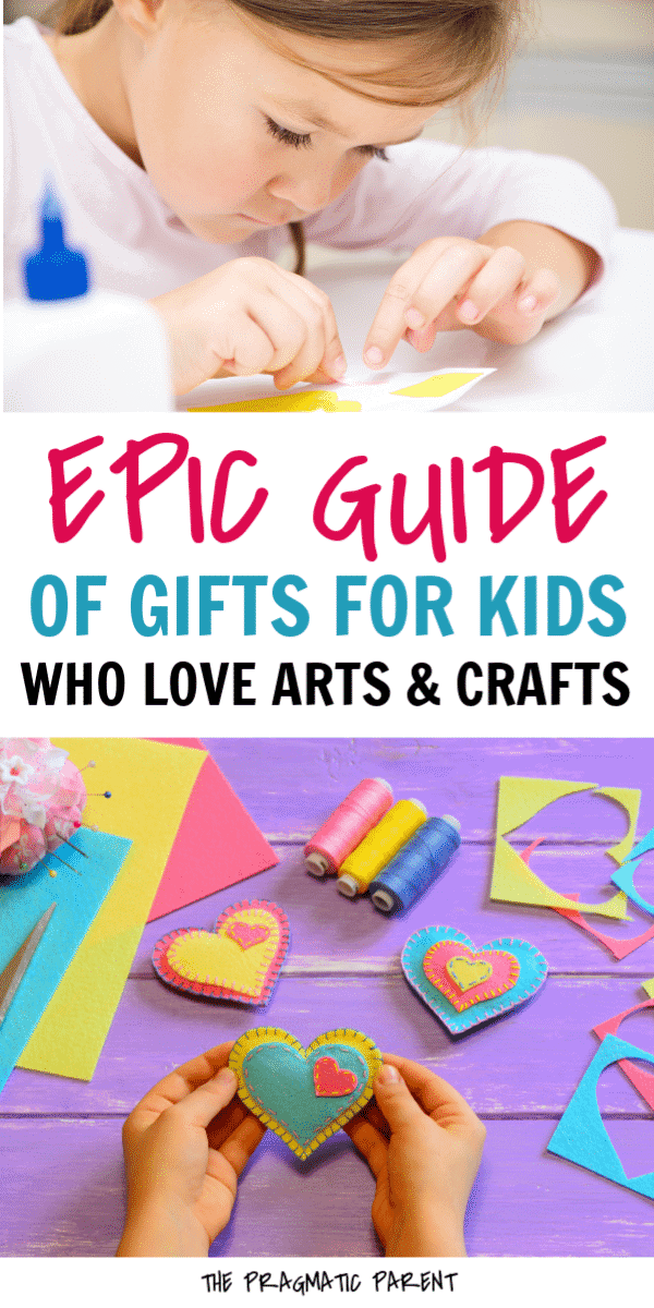 Epic guide of art and craft supplies for kids to fill their creative senses. The perfect gifts for kids who love arts and crafts and love to create art. #artsandcrafts #giftsforkids #giftideasforkidswholoveartsandcrafts #giftideasforartsykids #meaningfulgiftsforkids