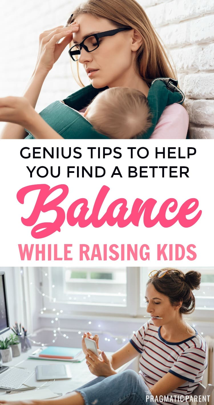 Do you ever feel like you can't find time to get everything done? Time management is important when you're raising kids and trying to stay on top of your responsibilities. Awesome tips to help you find balance in motherhood and raising kids, time management tips to help you balance everything in parenting that are simple and manageable! #raisingkids #positiveparenting #timemanagementforparents #tipsforparents