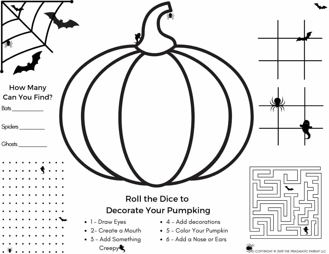 Halloween Set Halloween Activity Page & 18 Halloween Coloring ...