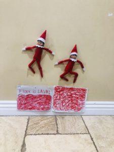 Hot Lava Elf on the Shelf