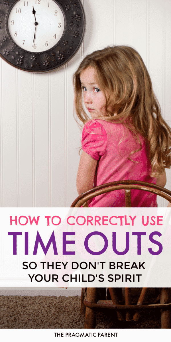 How to use time outs correctly with kids so you don't break their spirit. How to discipline toddlers and children and correct misbehavior using a time out.#usingtimeouts #howtousetimeouts #correctmisbehavior #positiveparenting #positiveparentingtips #discplineatoddler #gentlediscpline