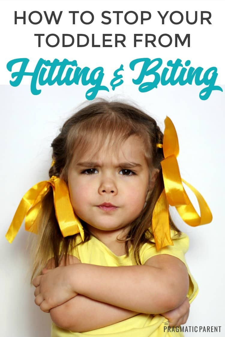 Few things make you second-guess your parenting skills like seeing your child hit another kid on the playground. Tips to stop a child from hitting & biting. #stopachildfromhitting #aggressivechild #toddlerwontstophitting #positiveparenting