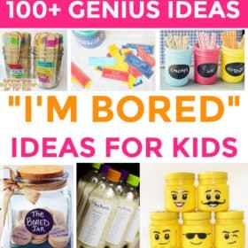 Genius Ideas for When Your Kids Say I'm Bored. Screen-free ideas including fun games for kids, summer activities for kids, crafts, learning, chores, kind acts and much more!