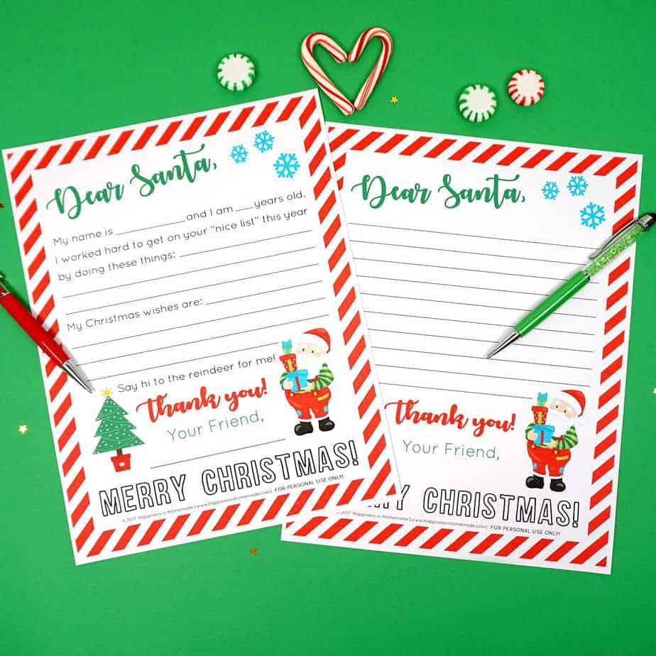 10 Free Cute Letter To Santa Printable Templates