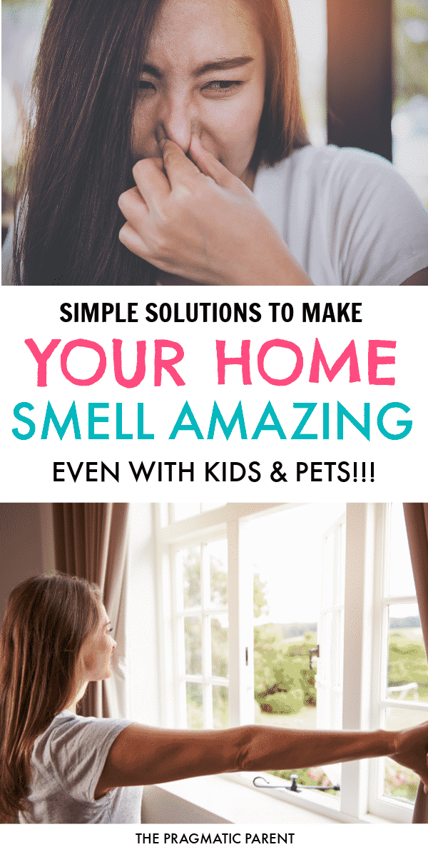 10 natural ways to make your house smell amazing, and hide those funky odors that can come with kids and pets.How to make your house smell amazing! #raisingkids #removeodors #getridofstinkysmells #cleanhomewithkids #makeyourhousesmellamazing