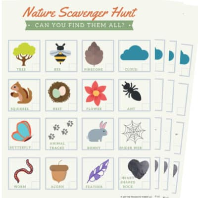 Nature Scavenger Hunt PDF Printable for Kids to Do an Outdoor Scavenger Hunt
