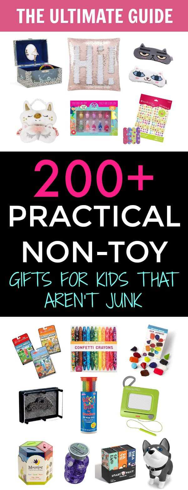 200+ Practical Non Toy Gifts for Kids That Aren't Junk. Ultimate Guide of Gifts for Kids That Aren't Toys or Junk and your kids will cherish and appreciate. #nontoygiftsforkids #giftsforkids #practicaltoysforkids #giftideasforgirls #giftideasforboys #giftsforkidsthatarentjunk #practicalgiftsforkids